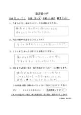40代の女性亀田治子様直筆メッセージ